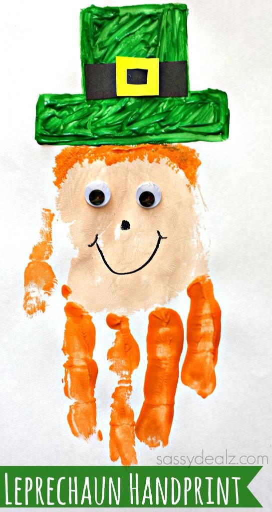 Handprint clipart leprechaun Leprechaun Crafts Patrick's Easy Day