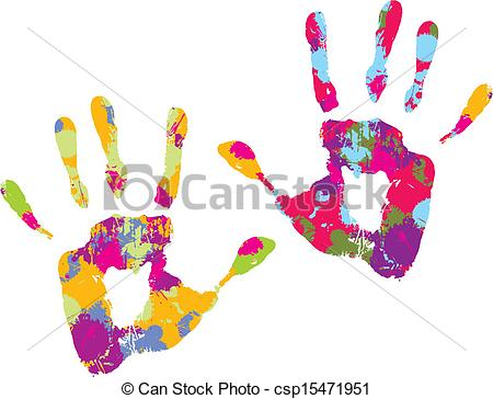 Handprint clipart line Handprint Vector of csp15471951 csp15471951