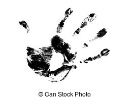 Handprint clipart line 326 art  background vector