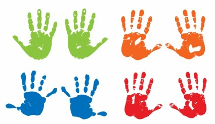 Handprint clipart line Handprint and Others Clipart Handprint