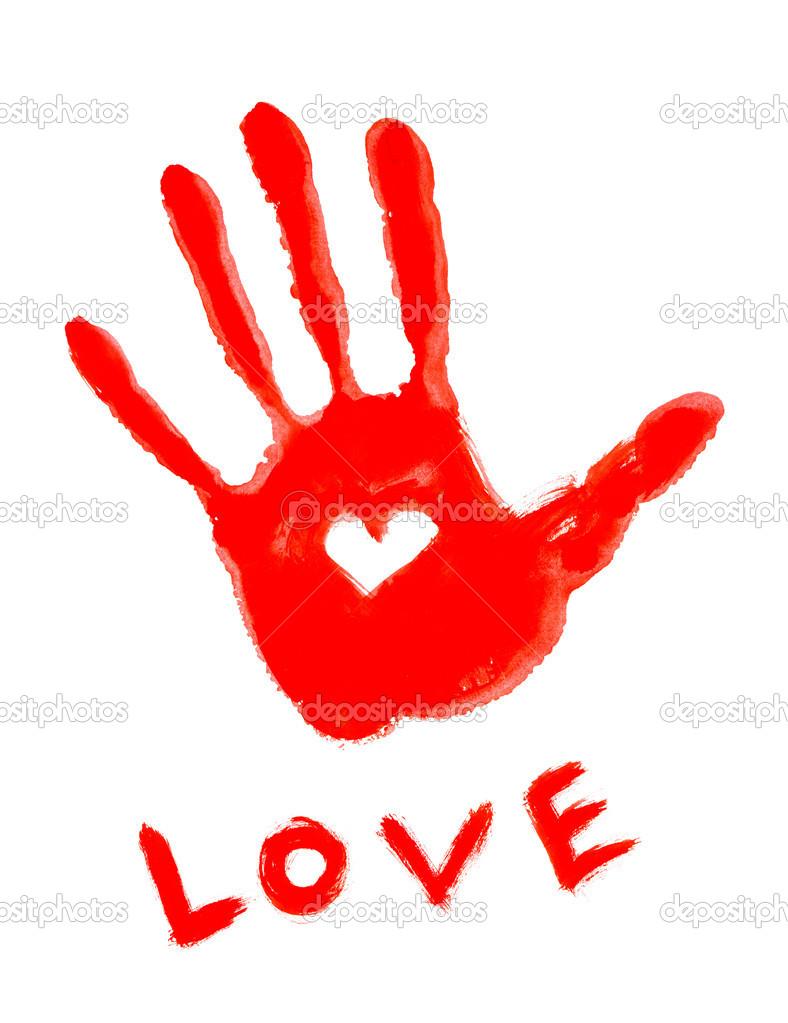 Handprint clipart love Clipart Handprint Images Panda Heart