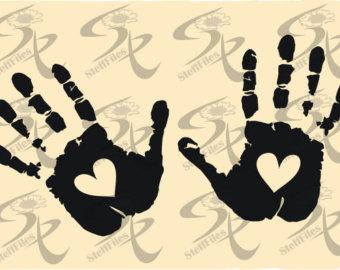 Handprint clipart love DXF clipart Handprint SVG Love