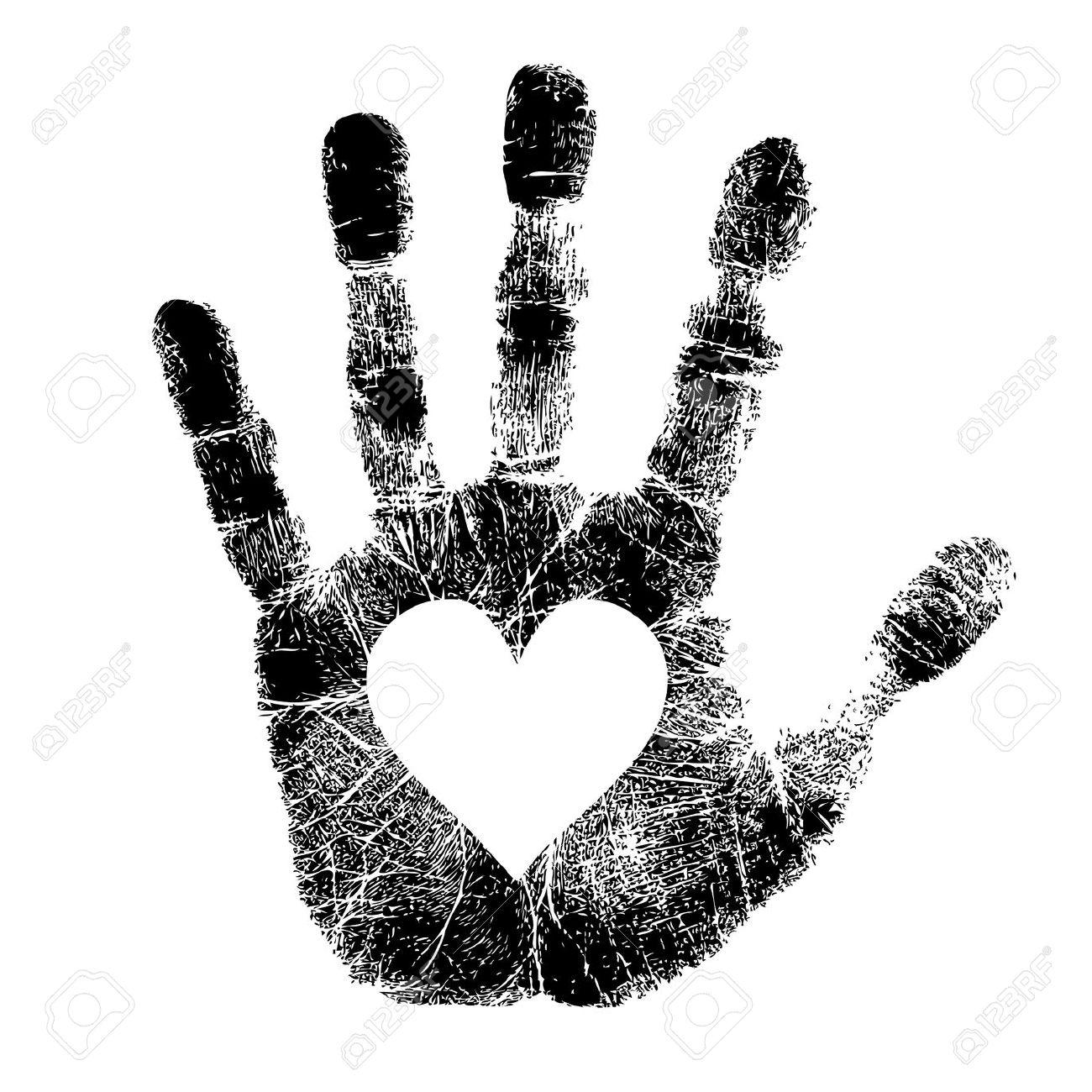 Handprint clipart love Hand Free Print And Hand