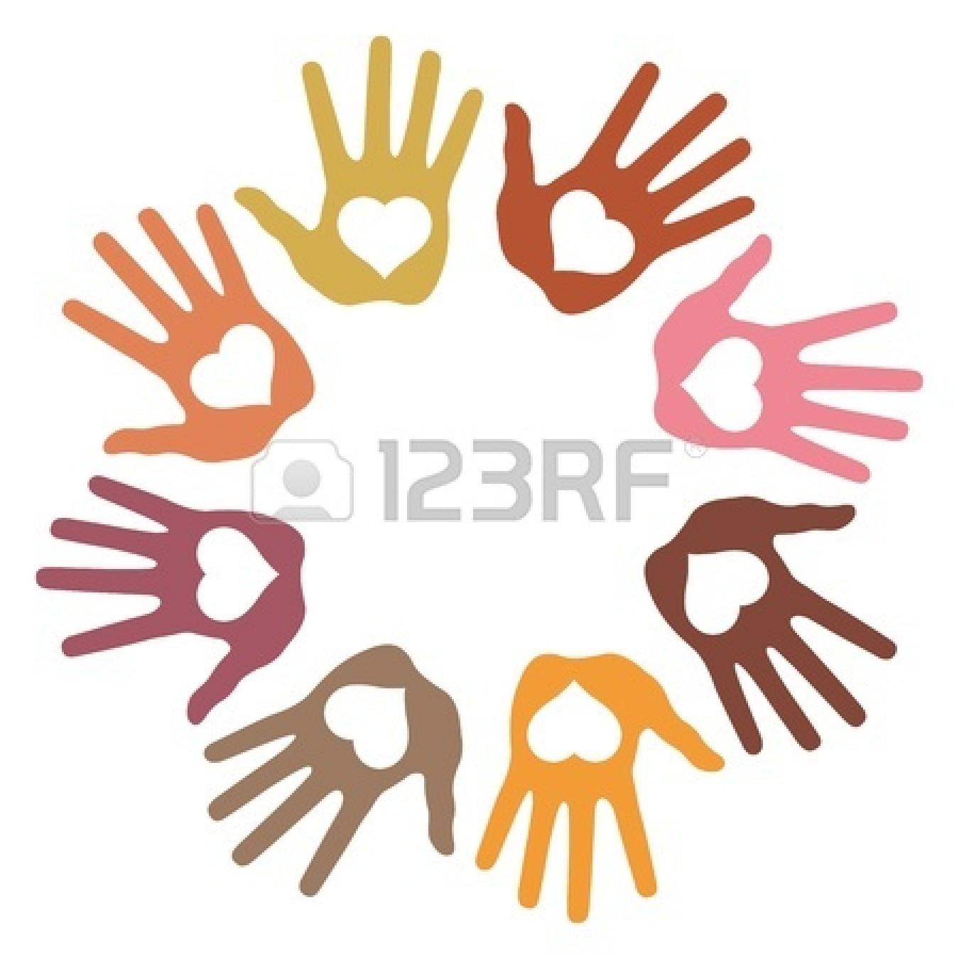 Handprint clipart love Panda Circle Hand Clipart Free