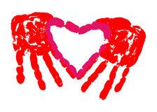 Handprint clipart love Clipart Handprint prints Heart (37+)