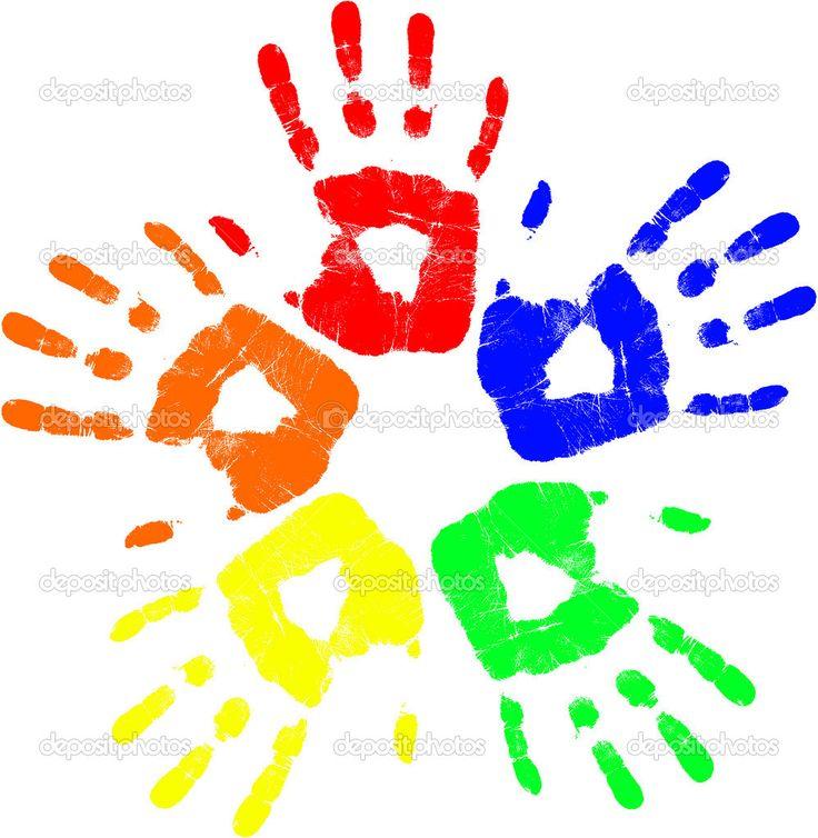 Handprint clipart massage hand Hand Search Google best Pinterest