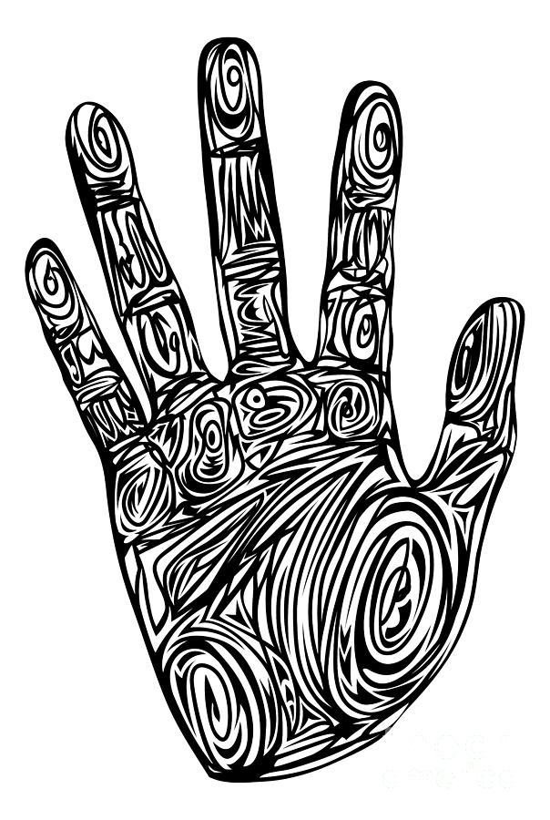 Handprint clipart massage hand Georghiou by Mixed Abstract Georghiou