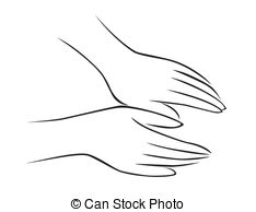 Handprint clipart massage hand 999 massage Illustrationsby images Stock
