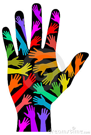 Handprint clipart massage hand Art against Art of LGBT