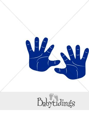 Blue clipart handprint Collection hands Baby Child Download