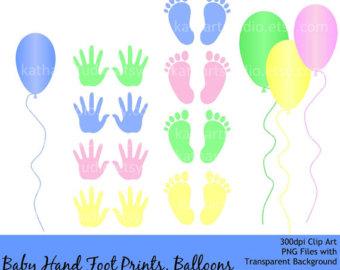 Handprint clipart newborn baby Download print foot Baby Instant