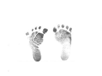 Handprint clipart newborn baby Baby baby newborn for Infant