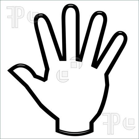 Handprint clipart open hand Free Clip Domain art Public