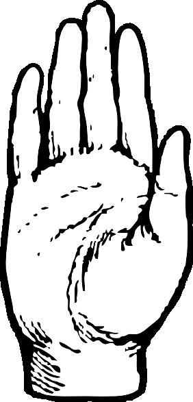 Handprint clipart open hand Royalty clip com as: Clker