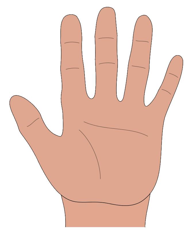 Handprint clipart open hand  Clip Art Hands Clip