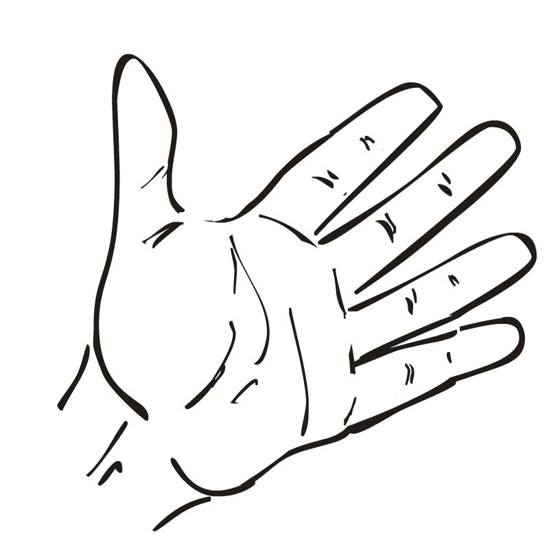 Handprint clipart open hand Art Free Hands Art Outline