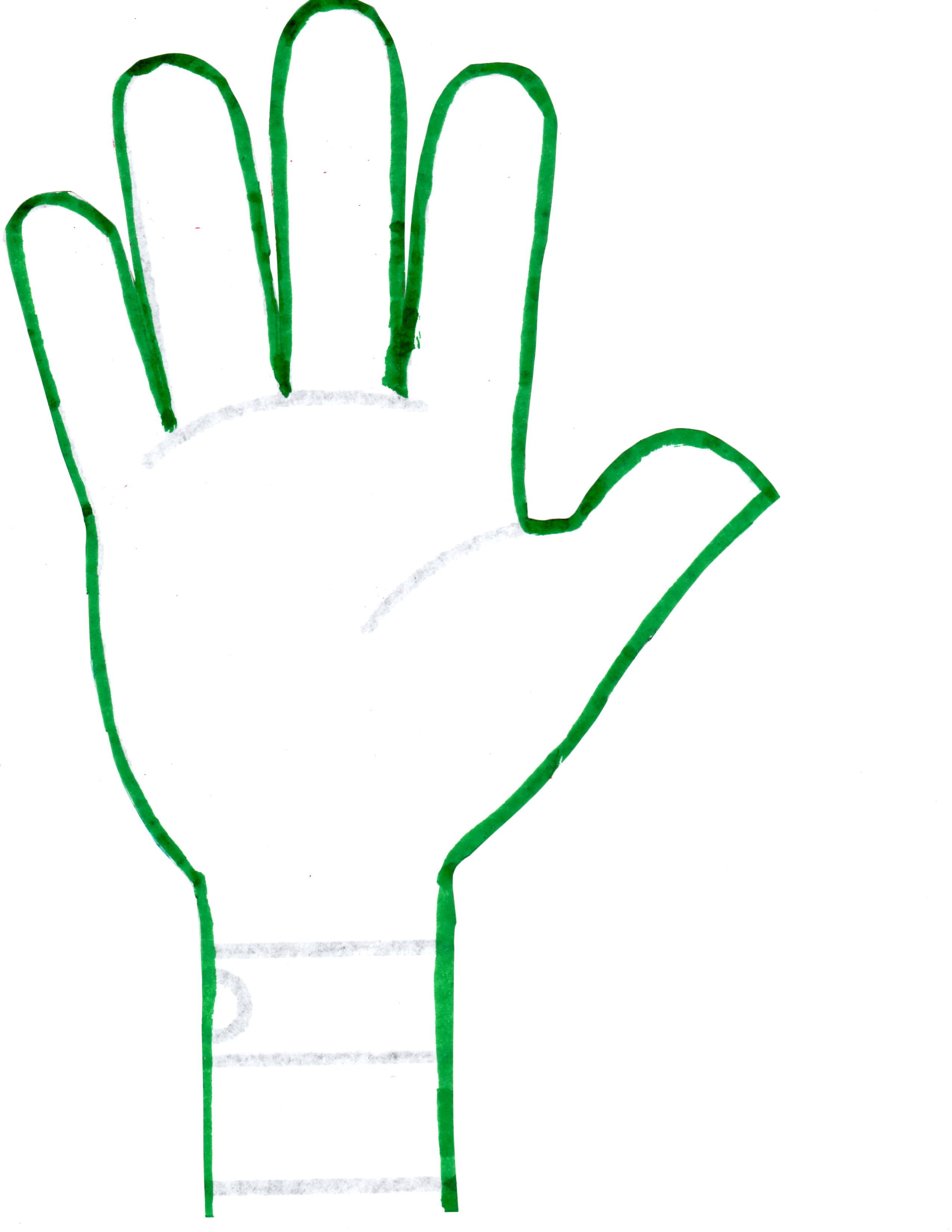 Handprint clipart open hand – template 2 hands outline