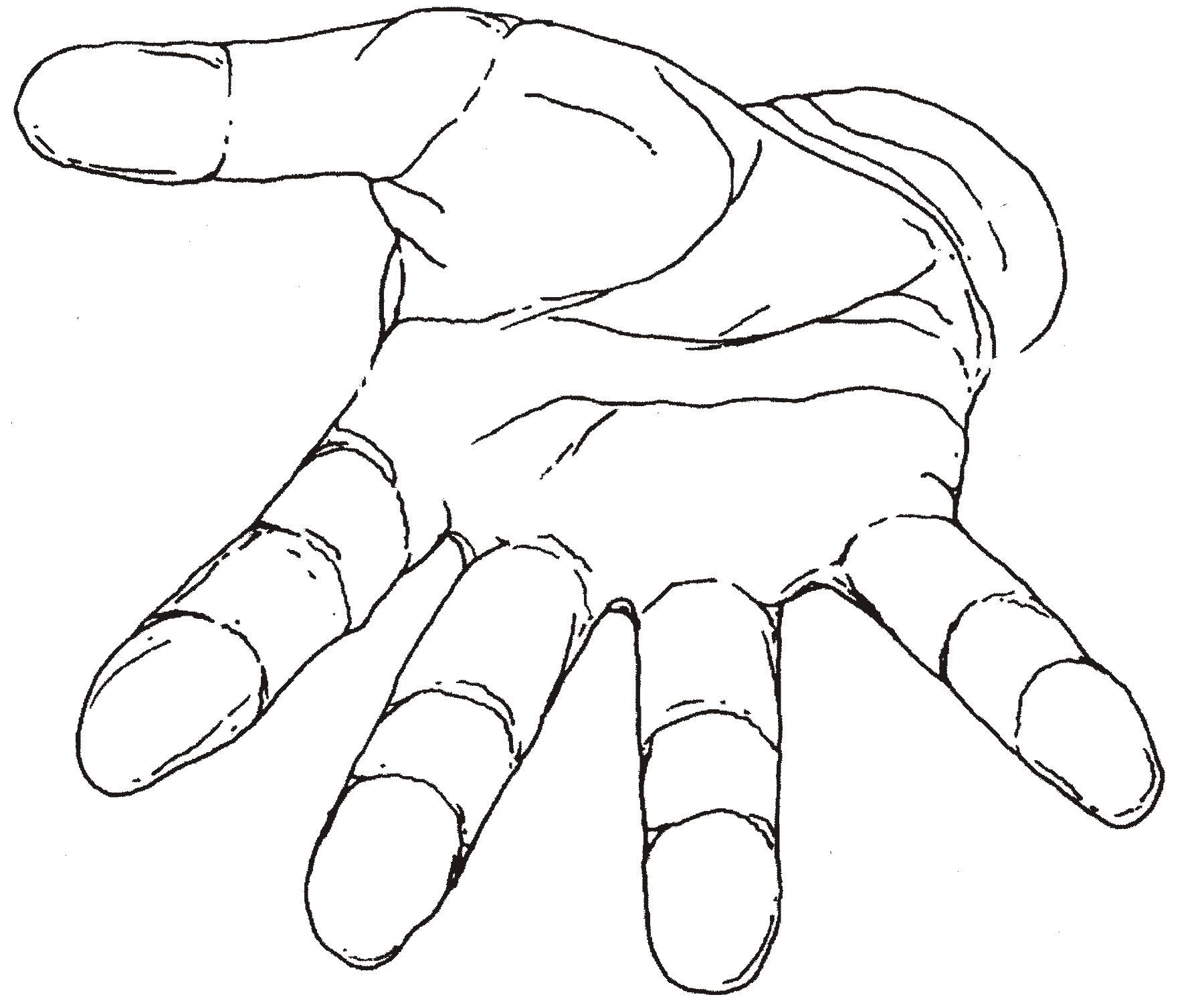 Handprint clipart open hand Clip Clip Free Outline Cliparts