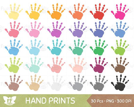 Handprint clipart palestine Art Clip OFF Hand Print