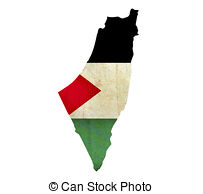 Handprint clipart palestine  Clipart Grunge Map isolated