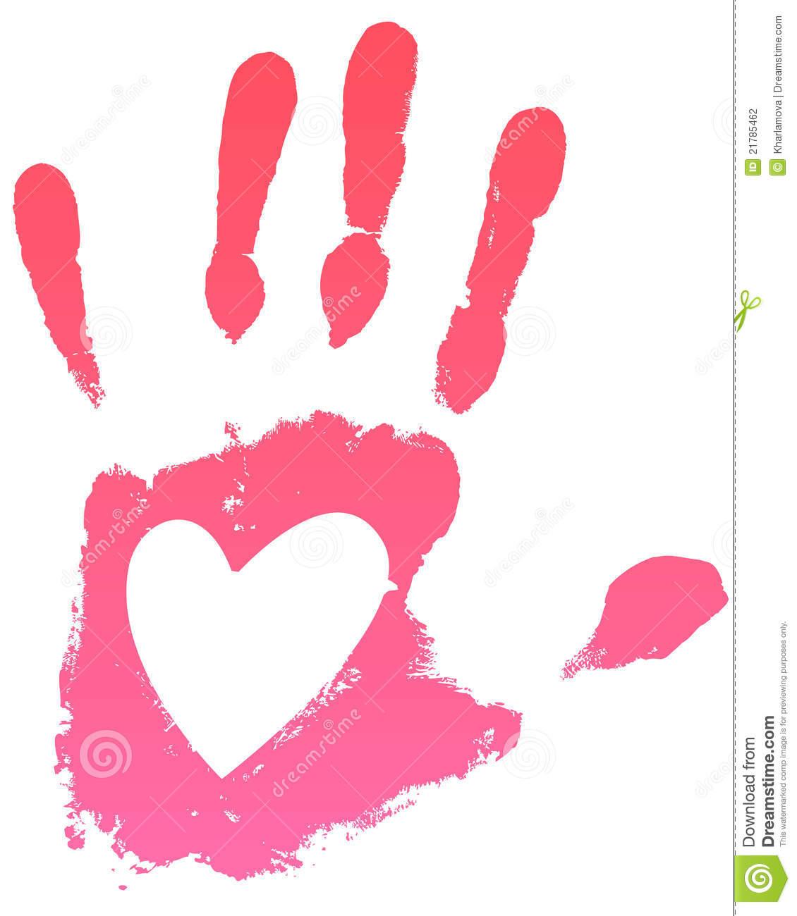 Handprint clipart pink  india Clipart & Handprint