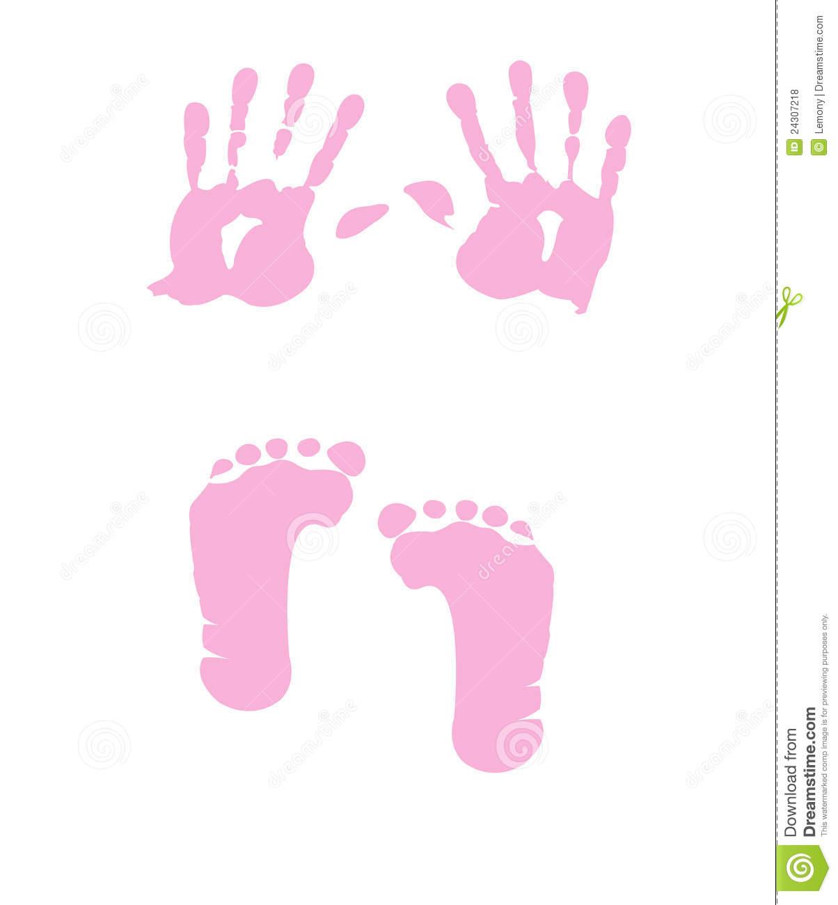 Handprint clipart pink &  handprint Showing Baby
