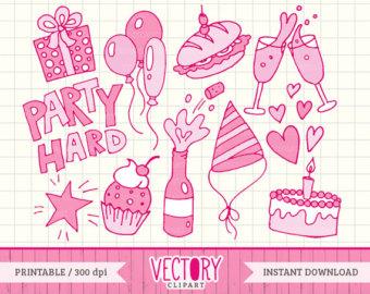 Handprint clipart pink 12 Kids Kids Doodle Set