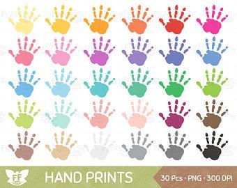 Handprint clipart playgroup Prints Use 50% Studio Handprints
