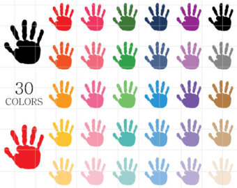 Painted Clipart Hand Prints Kids