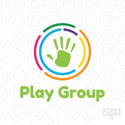 Handprint clipart playgroup Handprint Play inside Group a
