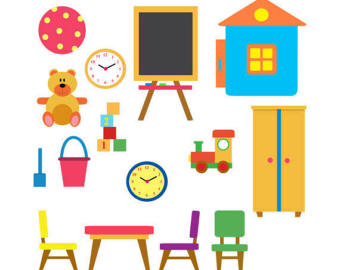 Handprint clipart playgroup Set Etsy Toys of Chairs