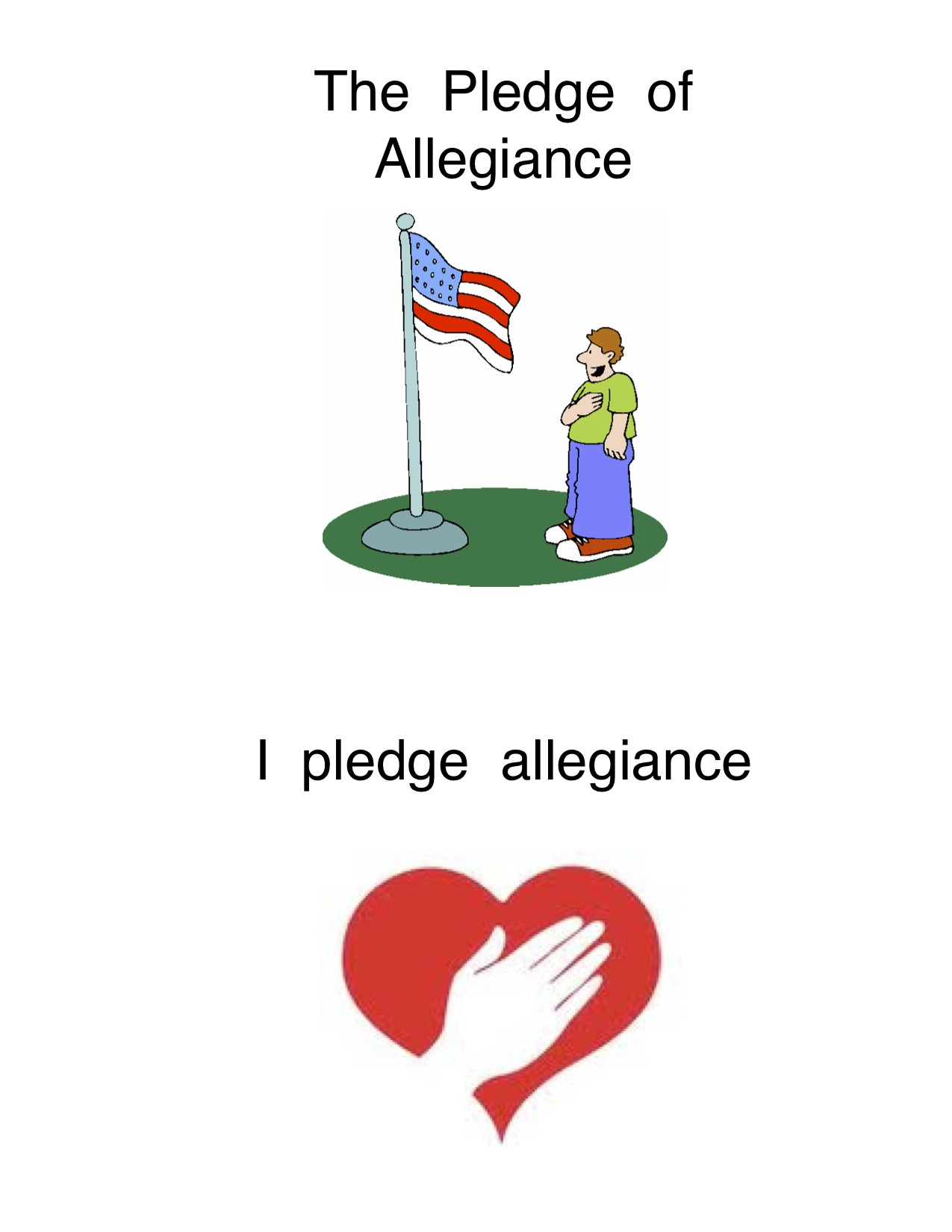 Handprint clipart pledge Words clipart of too You