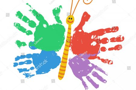 Handprint clipart preschool Free kids smiling print Handprint