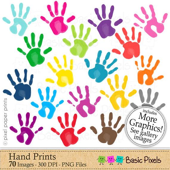 Handprint clipart preschool Art hands clipart art Hand