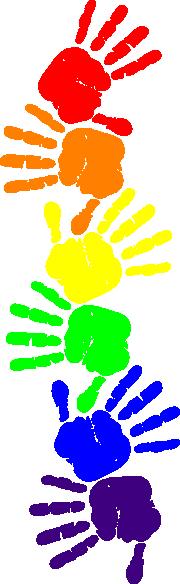 Handprint clipart preschool Clipartsgram Border handprint%20clipart%20border com Handprint