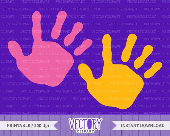 Digital file Hands Handprint Kids