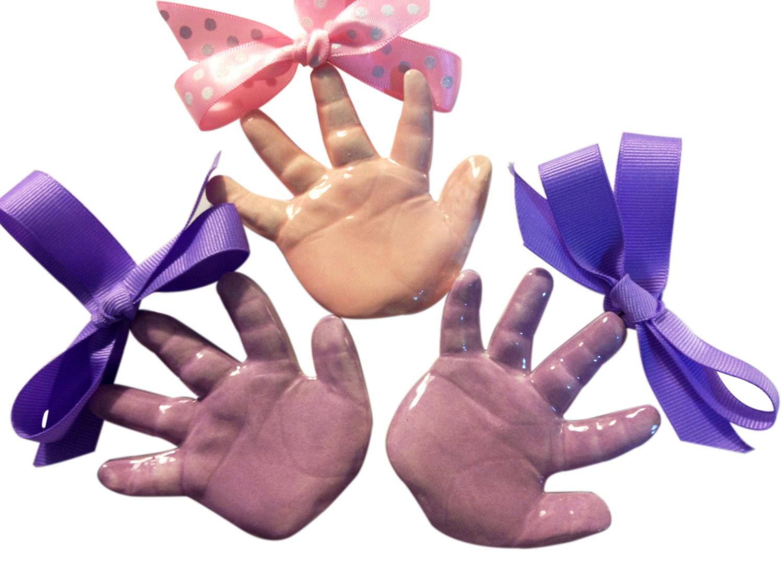 Handprint clipart purple baby Clay Etsy Keepsake Handprint Baby