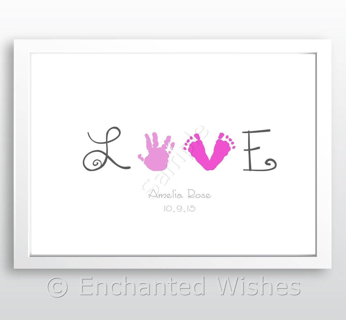Handprint clipart purple baby Baby Art Baby print Etsy