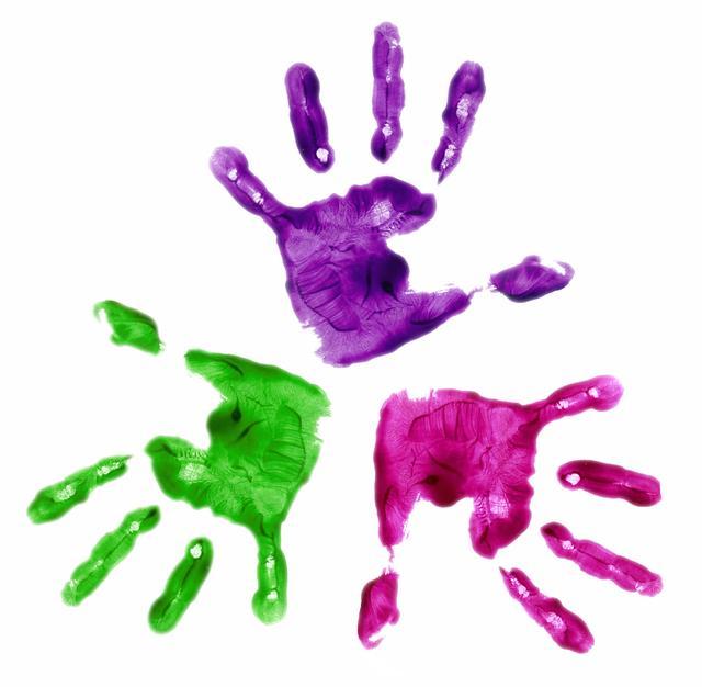 Handprint clipart purple baby Www clipart art handprint &