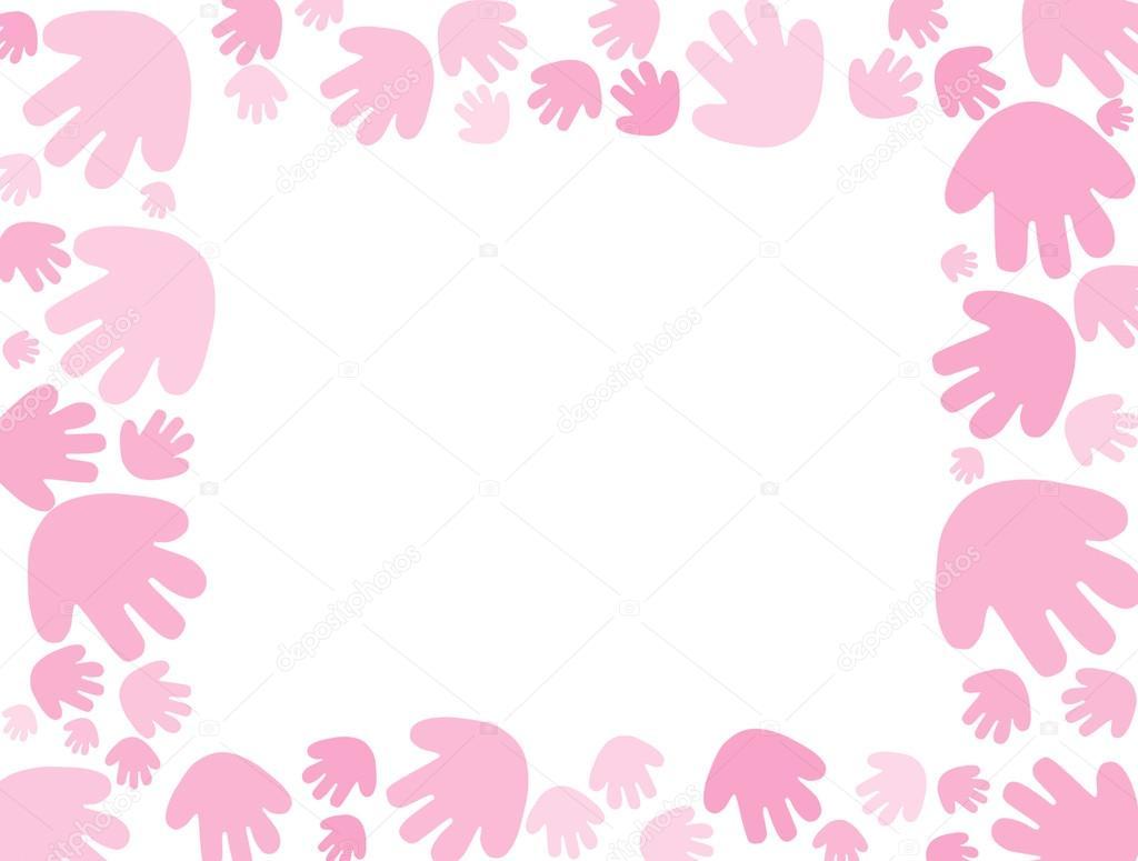 Handprint clipart purple baby Pink Background karenr — #6319368