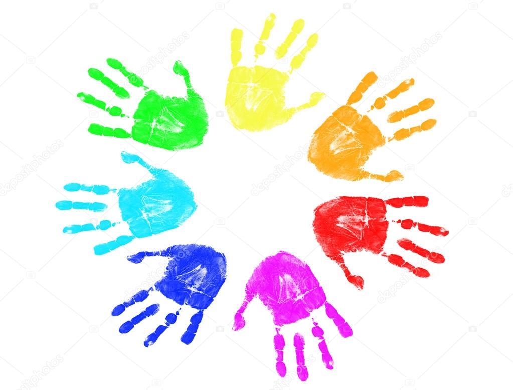 Handprint clipart rainbow Stock Handprint Illustration Download Gallery