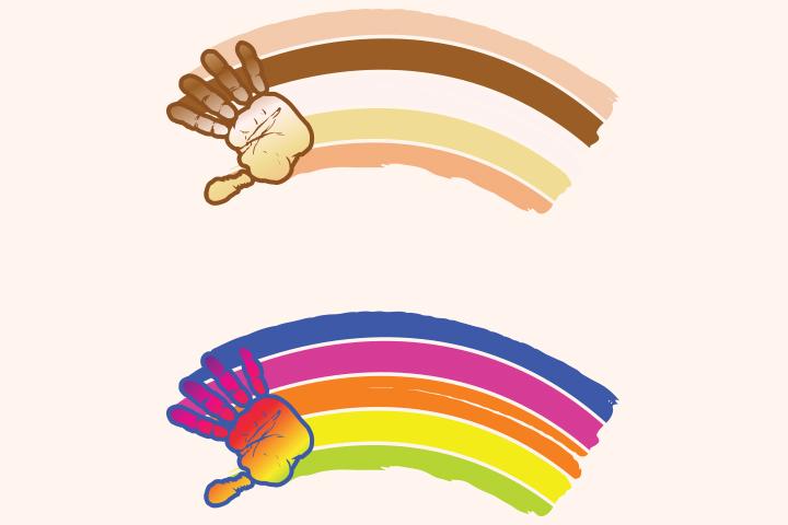 Handprint clipart rainbow Crafts Of Ideas Handprint Ages