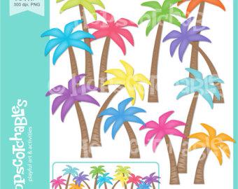 Handprint clipart rainbow Trees Digital Handprints Use Tropical