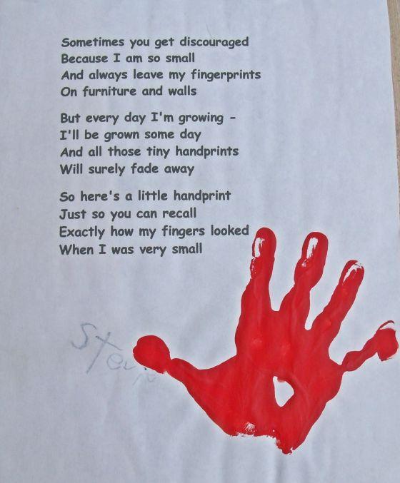 Handprint clipart right hand Handprints craftycreativekathy Keepsake This
