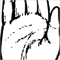 Handprint clipart right hand Outline Clipart Panda And Hand