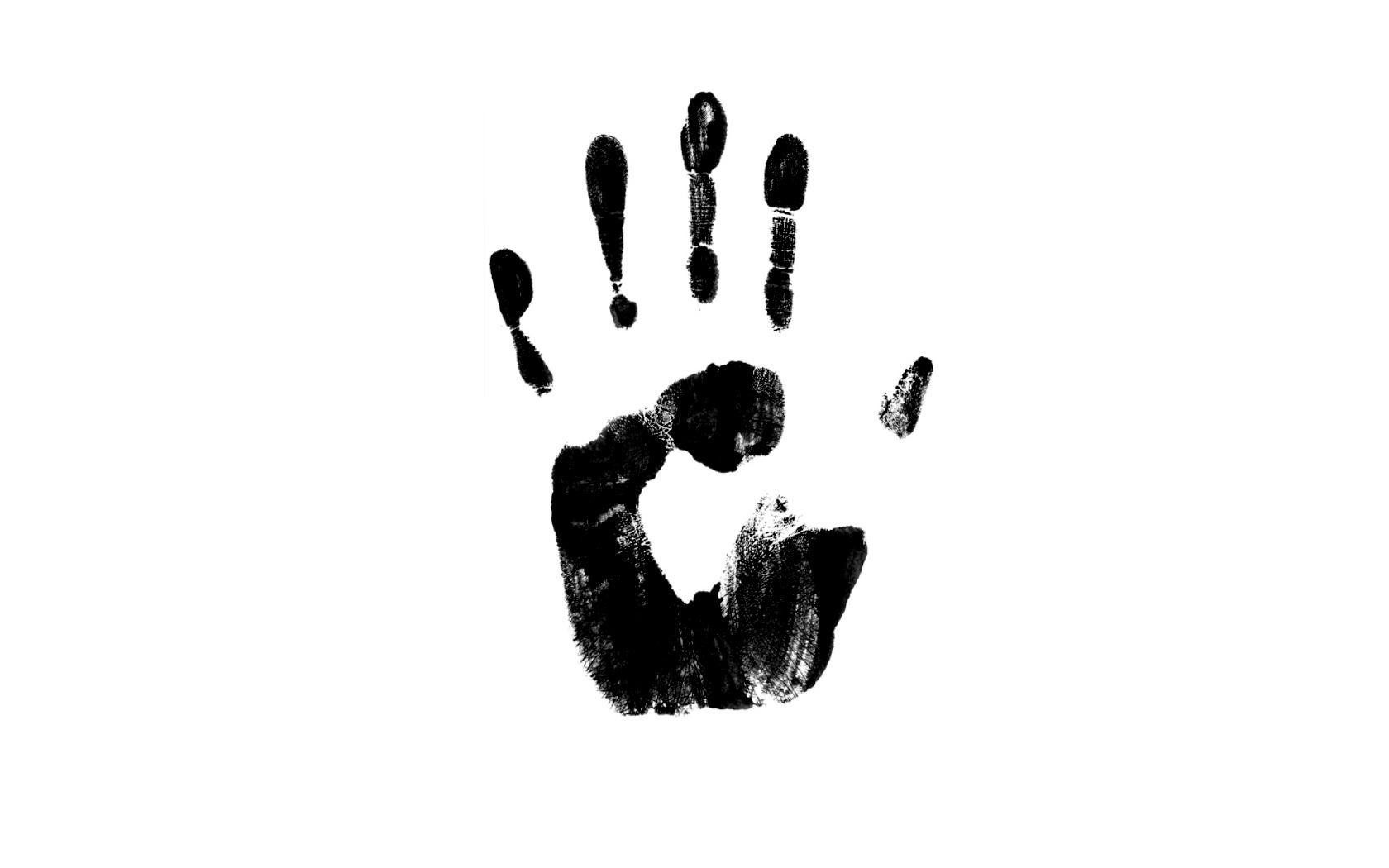 Handprint clipart right hand Ideas black for  Handprint