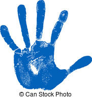Handprint clipart right hand Of hand print hand Vectors