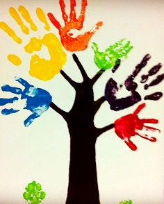 Handprint clipart school age Handprint royalty clip clipart illustrations