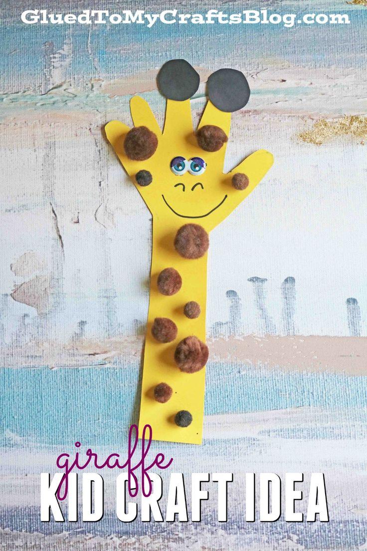 Handprint clipart school age Pinterest Giraffe Craft Animal images