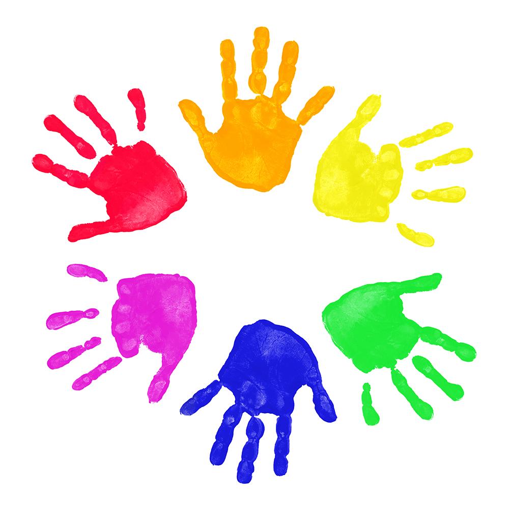 Handprint clipart school age Art Clip Clip Painted